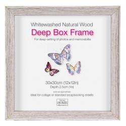 Hlboký štvorcový fotorámik 30x30 Driftwood