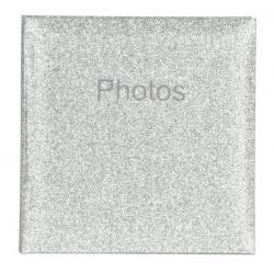 Svadobný fotoalbum 10x15/200 Glitter strieborný