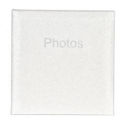 Svadobný fotoalbum 10x15/200 Glitter biely