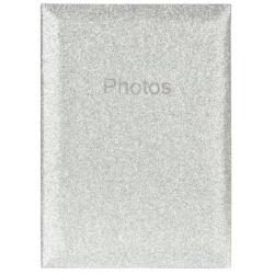 Svadobný fotoalbum 10x15/300 Glitter strieborný