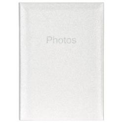 Svadobný fotoalbum 10x15/300 Glitter biely