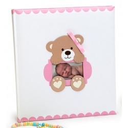 Detský fotoalbum na rožky  BABY'S TIME 29x32/60s. ružový