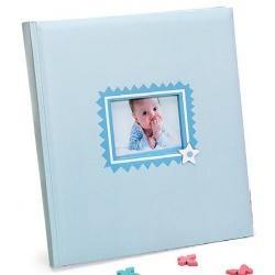 Detský fotoalbum na fotorožky BABY´S LAUGH 29x32/60 modrý