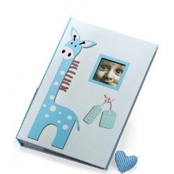 Detský fotoalbum 10x15/300 foto s pop. BABY GIRAFFE modrý