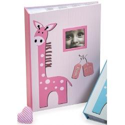 Detský fotoalbum 10x15/300 foto s pop. BABY GIRAFFE  ružový