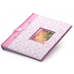 Dětský fotoalbum na fotoržky  BAMBINO 29x32/60 ružový