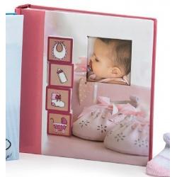 Detský zasúvací fotoalbum 10x15/200 foto GLOW ružový