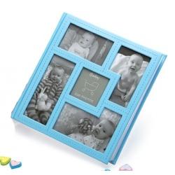 Detský zasúvací fotoalbum 10x15/200 foto BABY´s VISION modrý
