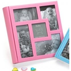 Detský zasúvací fotoalbum 10x15/200 foto BABY´s VISION ružový