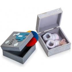 Detská krabička na drobné predmety modrá