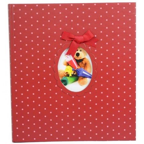 Dětské fotoalbum na růžky YOUNG CHILD 29x32/60s. červené