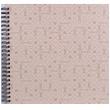 Špirálový fotoalbum na rožky 30x30/40s. LE CLOU šedý