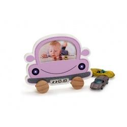 Dětský fotorámeček BABY CAR fialový