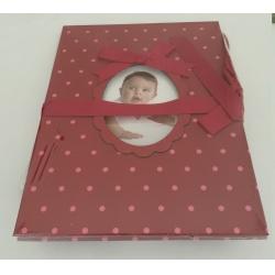 Dětské leporelo na 14 foto 10x15 Young Child červené