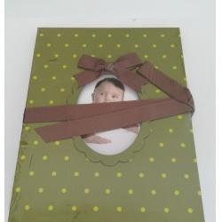 Dětské leporelo na 14 foto 10x15 Young Child zelené