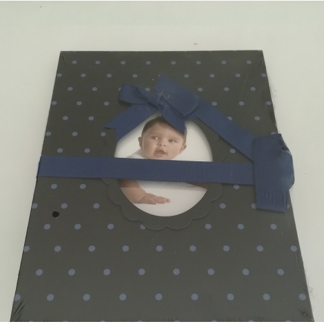 Detské leporelo na 14 foto 10x15 Young Child tmavomodré