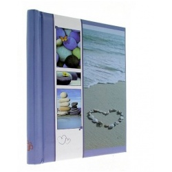 Samolepiaci fotoalbum 23x28/60s WELNESS modrý