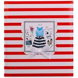 Fotoalbum 10x15/200 foto s popisom FASHION LINE červený