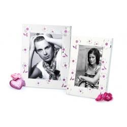 Kovový svadobný fotorámik 13x18 LA CORUNA pink
