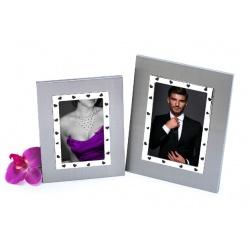 Sklenený svadobný fotorámik 10x15 LOVE