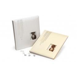 Svadobný fotoalbum na rožky WEDDING GLITTER strieborný