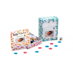 Detská škatuľka na drobné pripomienky HELLO BABY ružová