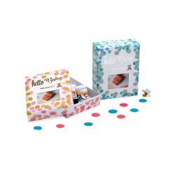Detská škatuľka na drobné pripomienky HELLO BABY modrá