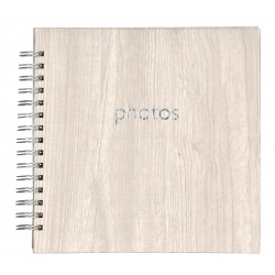 Špirálový fotoalbum POPLAR Scrapbook 22x22/40 svetlý