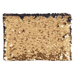 Fotoalbum 10x15/36 foto Mini SEQUIN Flitr čierne stránky, zlatý