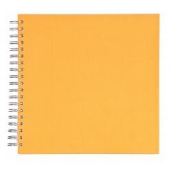 Špirálový fotoalbum LINEN Scrapbook 25x25/50 teracotta